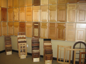 Cabinet door showroom displays