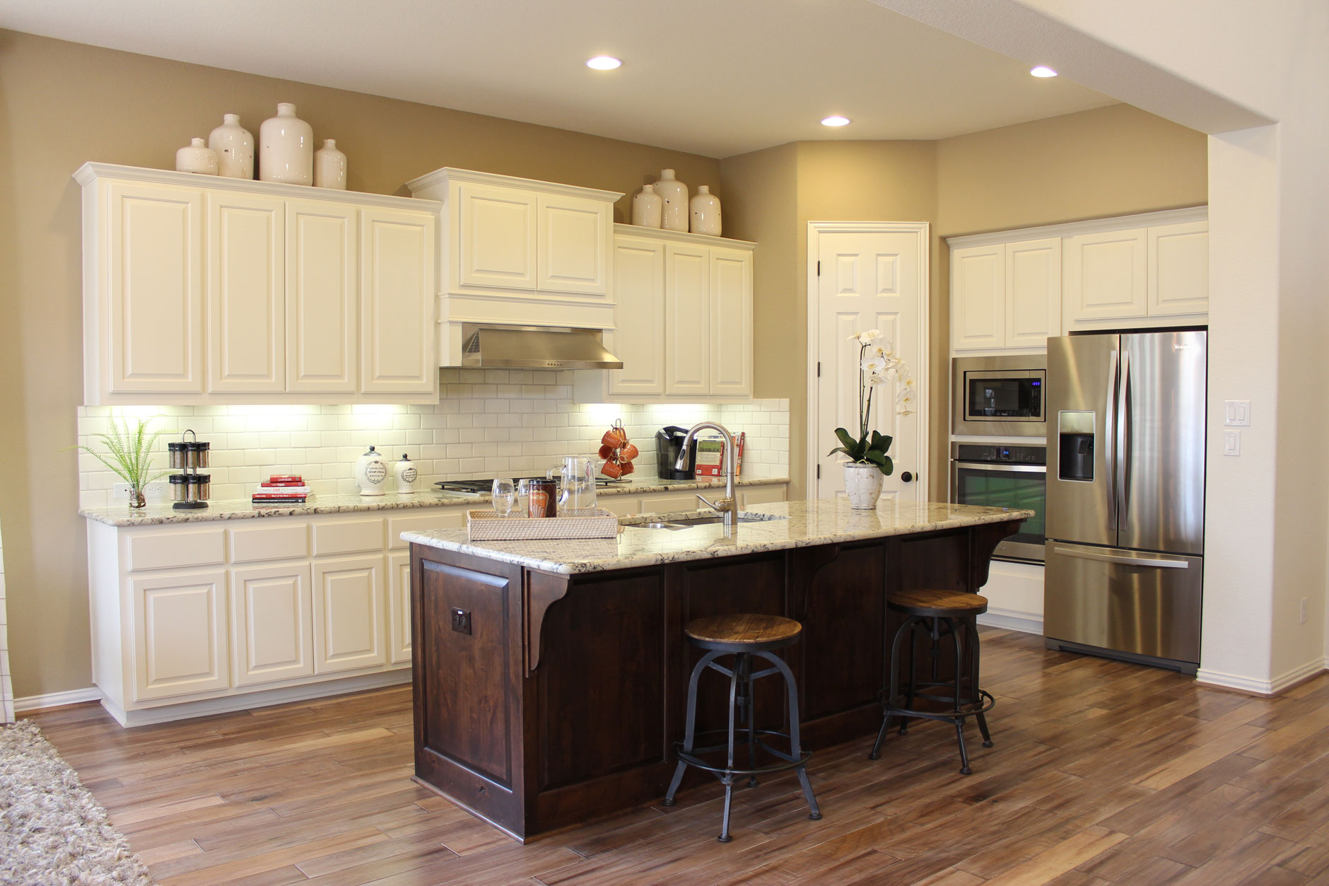 Kitchen Cabinet End Panel Ideas - Kitchen painted white with cabinet doors by taylorcraft cabinet door company
