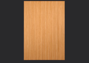 2mm Edgebanded door and drawer front in quartersawn cherry echowood veneer