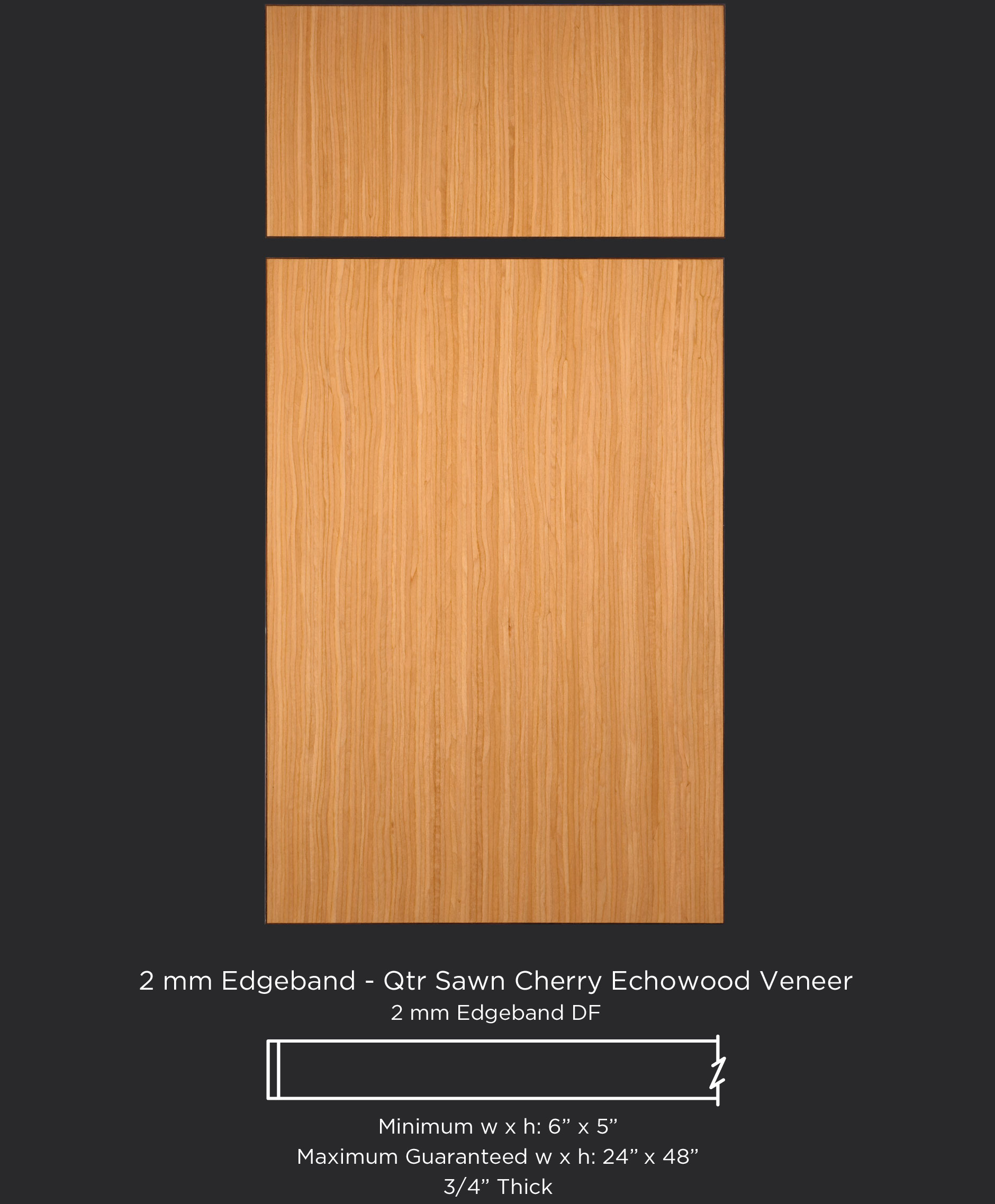 2 Mm Edgeband Quarter Sawn Maple Echowood Veneer