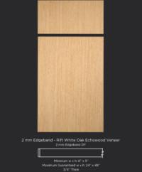 2mm Edgebanded door and drawer front in rift white oak echowood veneer