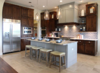 gray paint and alder kitchen photograph TaylorCraft Cabinet Door Company