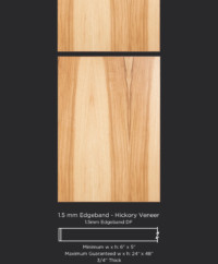 1.5mm edgebanded door and drawer front- hickory veneer
