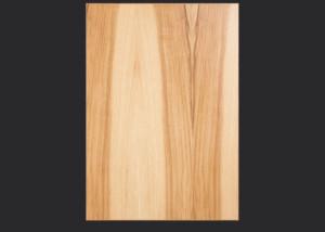 1.5mm edgebanded door and drawer front- hickory veneer