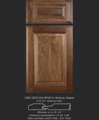Cope and Stick Cabinet Door C101 OE21-IE3-RP20 Walnut, Select