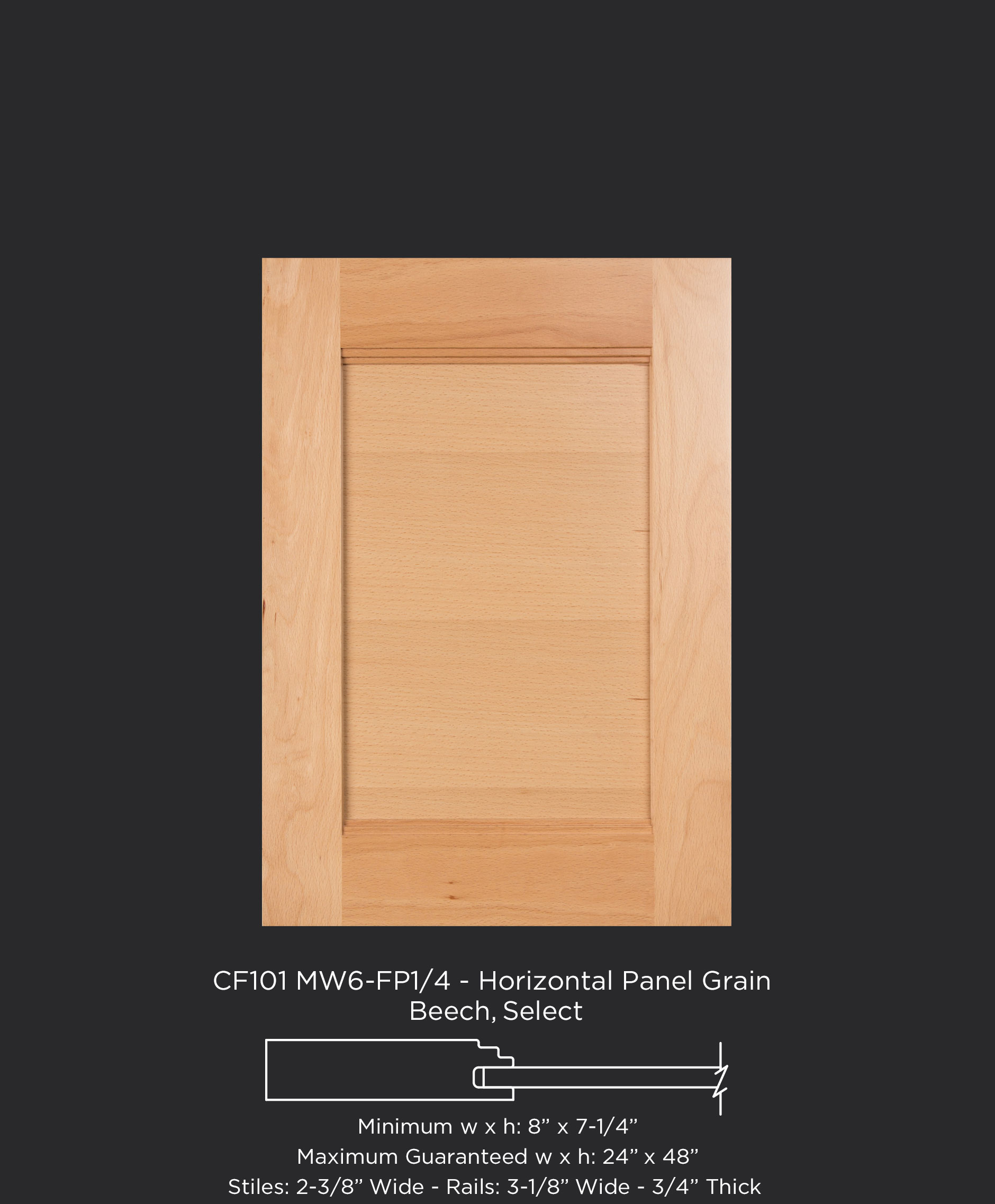 Cf101 mw6 fp1 4 beech select horizontal grain for 6 horizontal panel doors