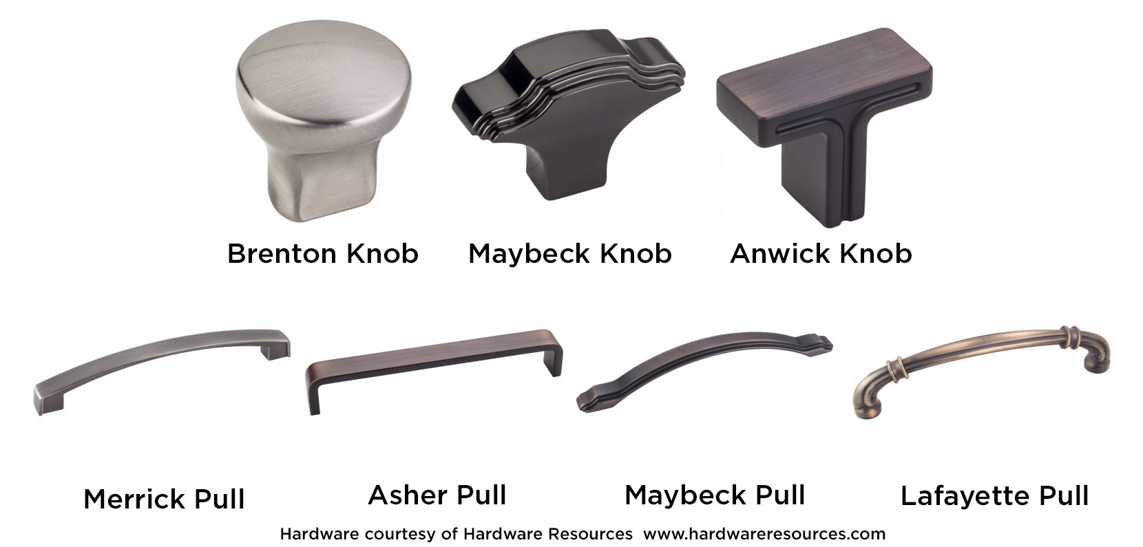 Cabinet Door Knobs And Pulls With Small Footprint