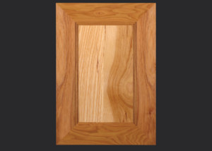 Mitered Cabinet Door M101 MW6 FP3/8 in Hickory, Natural and 5-piece drawer front with MW6-D