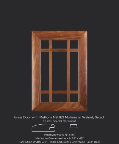 9 Lites M9 IE2 u2013 Walnut Select  sc 1 st  TaylorCraft Cabinet Door Company & Mullion and Glass Cabinet Doors - TaylorCraft Cabinet Door Company