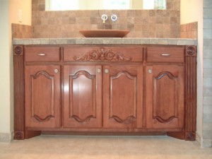 double arch cabinet doors with cabinet applique