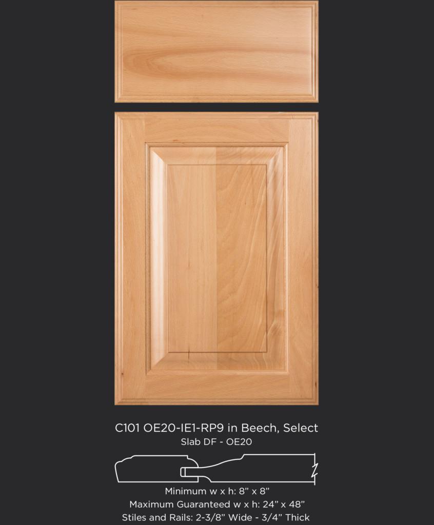 C101 Oe20 Ie1 Rp9 Beech Select Taylorcraft Cabinet Door Company
