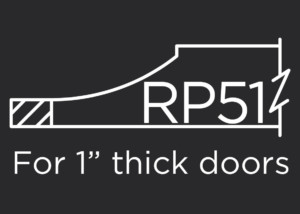 RP51 raised panel for use with 1-inch thick frames