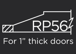 RP56 raised panel for use with 1-inch thick frames