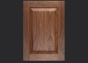 C101 Cope and Stick Cabinet Door OE5-IE9-RP6 Walnut, Select with slab drawer front