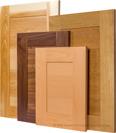 modern transitional cabinet doors with horizontal panel grain and IE6 inside edge which brings the panel closer to the face of the frame