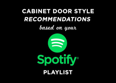 Cabinet door style recommendations based on music playlist