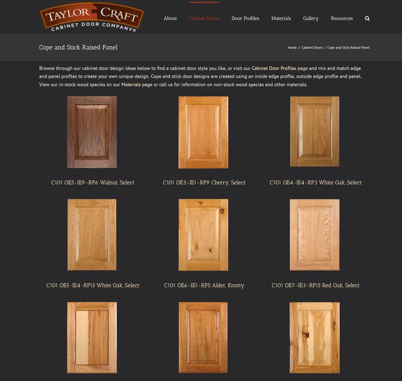 Cope And Stick Raised Panel Doors Taylorcraft Cabinet