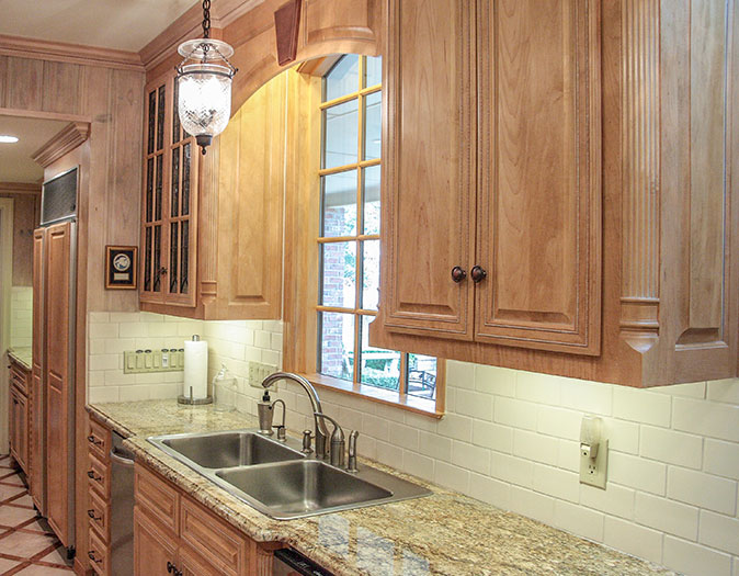 kitchen mitered maple cabinet doors