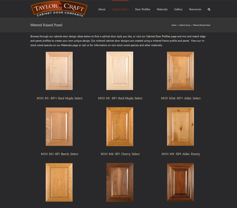 Mitered Raised Panel Cabinet Doors TaylorCraft