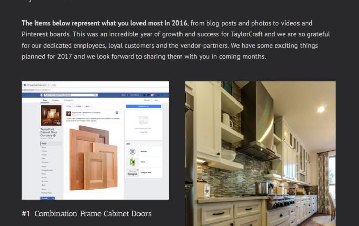 TaylorCraft Cabinet Door Company's top 6 posts in 2016